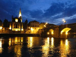 limoux by night-pont-neuf-at