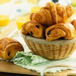 Basket of Pain Au Chocolat --- Image by © Roulier/Turiot/photocuisine/Corbis