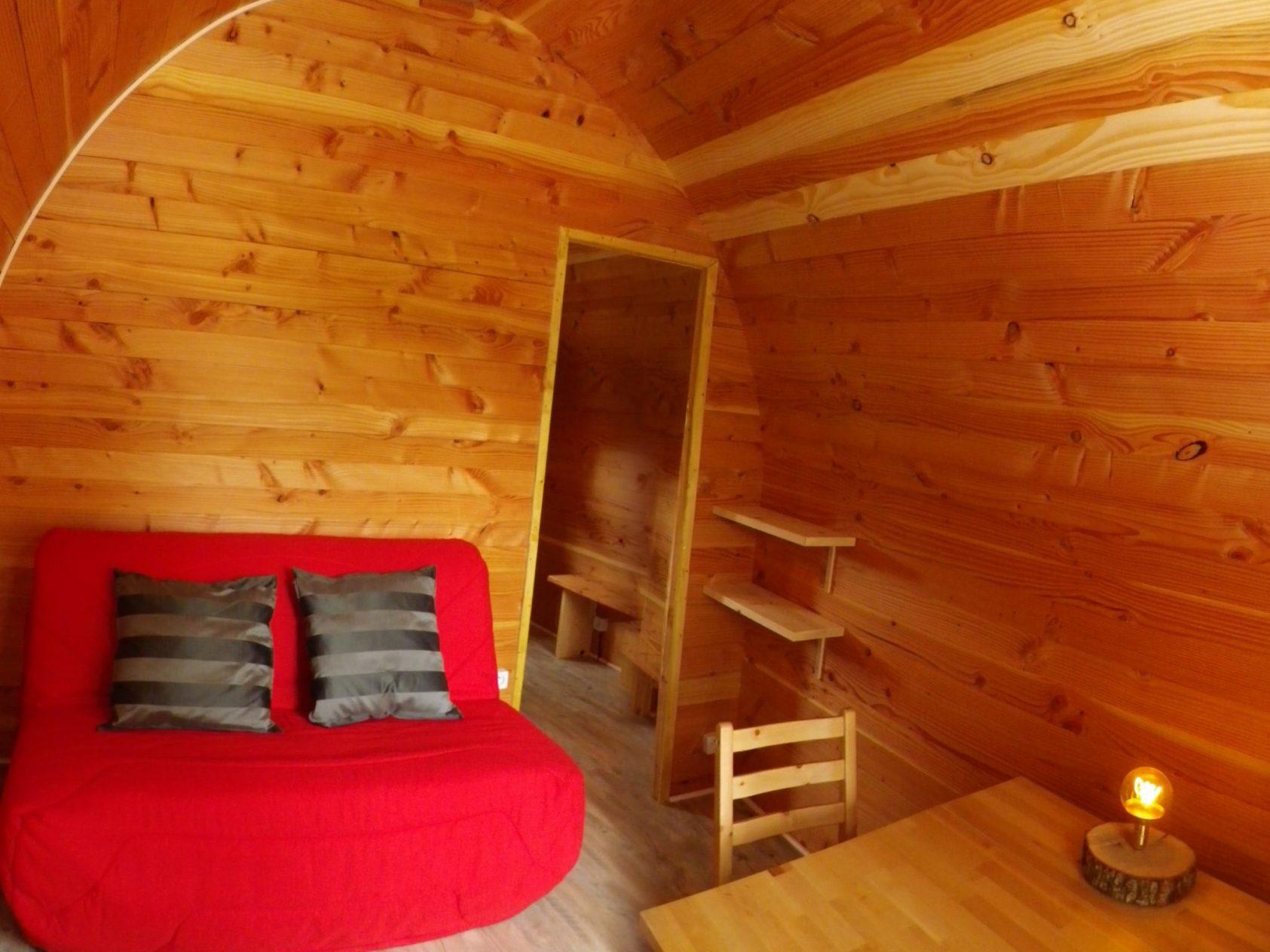 glamping hut living panorama