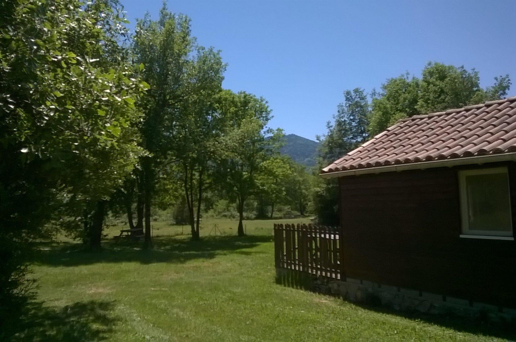 chalet vanaf camping pad top