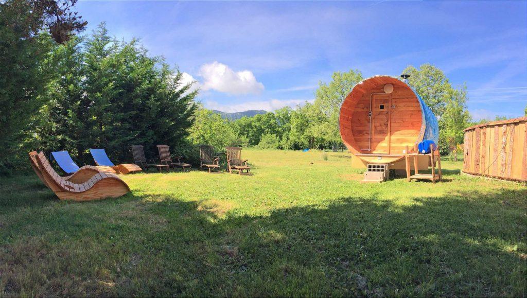 Natural Wood Fired Barrel Sauna