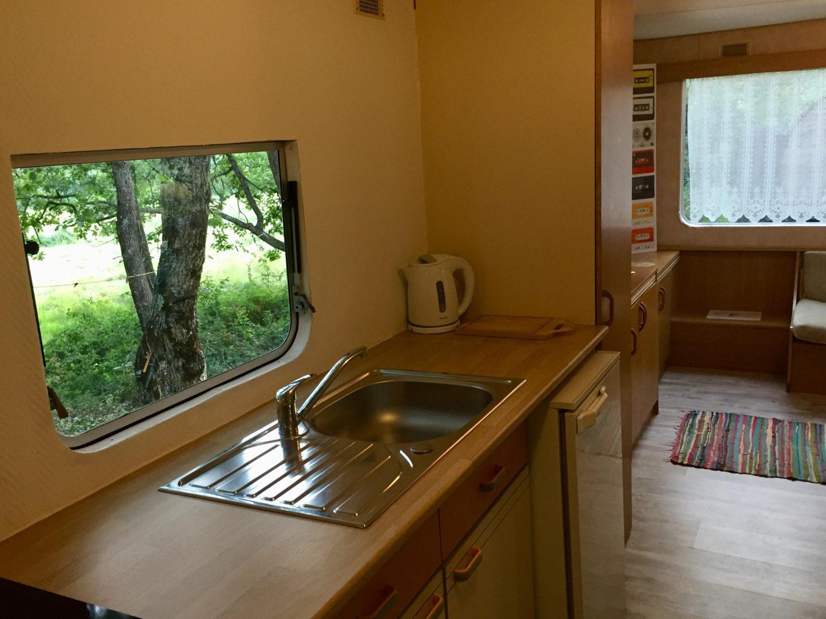keuken red mobil home stacaravan